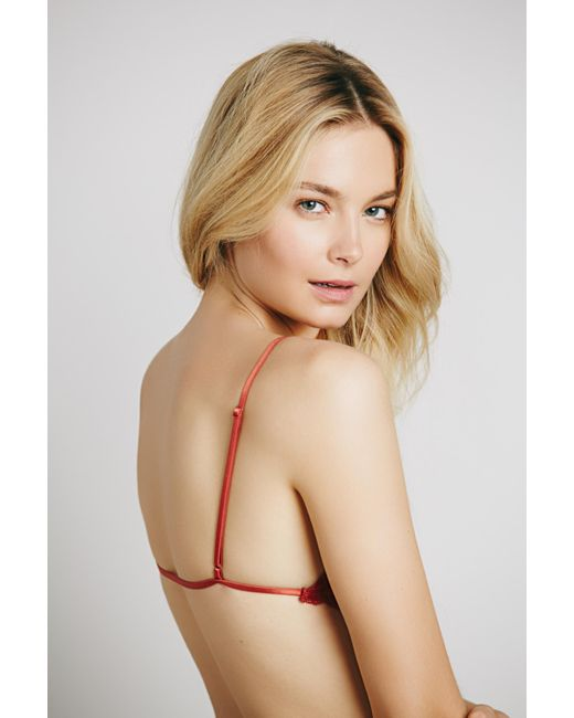 Free People - Green Essential Triangle Bra By Intimately - Lyst