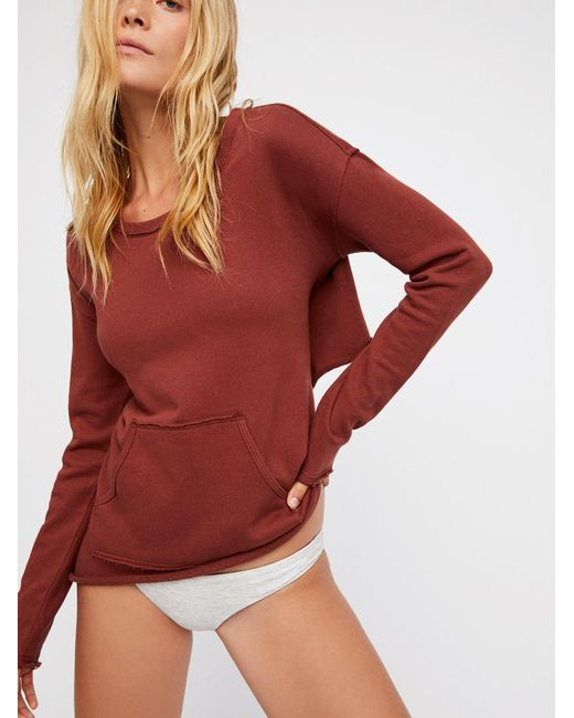 Free People | Red Better Than A Monday Pull On | Lyst
