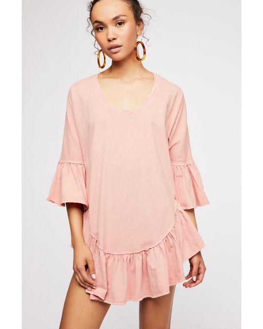 56937a2c3a7 Free People - Pink Sweetness Tunic By Fp Beach - Lyst ...