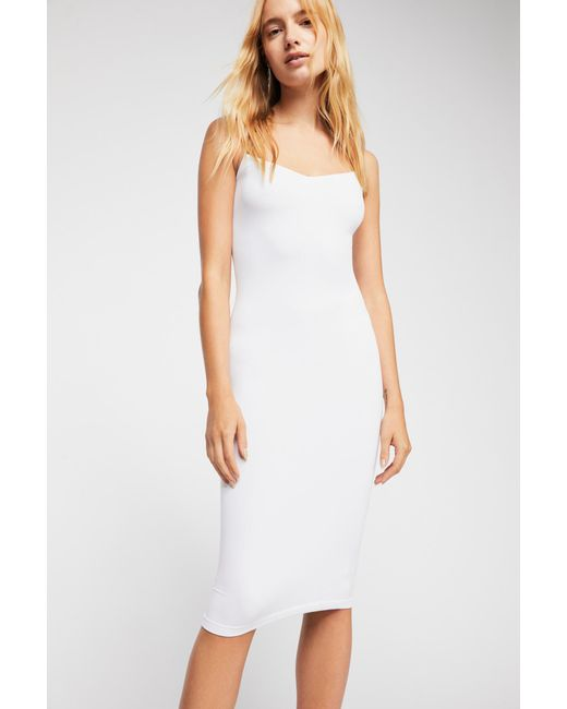 Free People - White Tea Length Seamless Slip By Intimately - Lyst