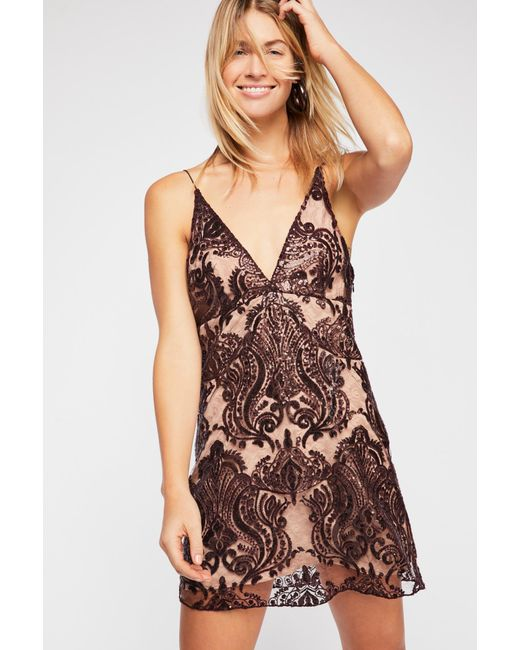 a736f52cec49 ... Free People - Multicolor Night Shimmers Mini Dress - Lyst ...