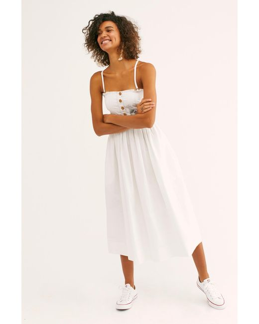 dac9bdcc85400 ... Free People - White Lilah Pleated Tube Dress - Lyst