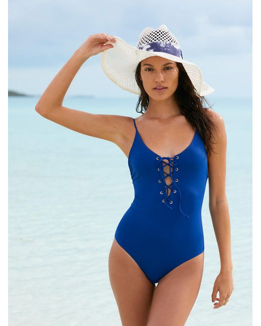 Free People | Blue Monahan One Piece Swimsuit | Lyst