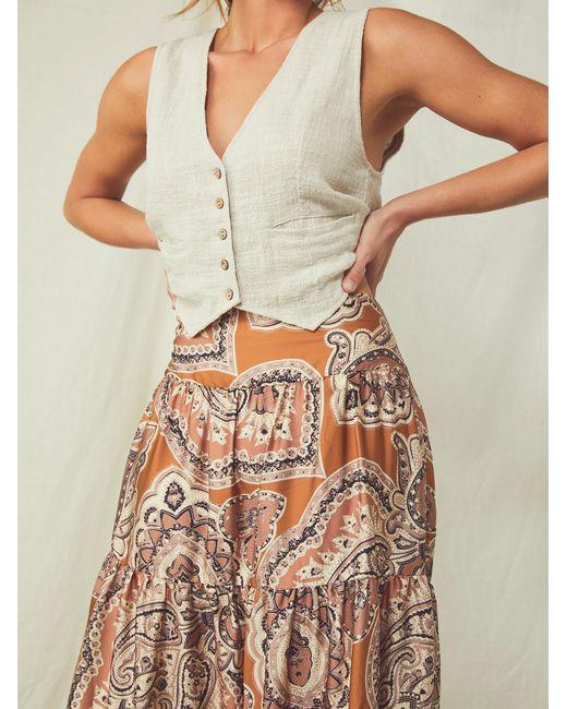 Free People Multicolor Printed Moonbeam Maxi Skirt