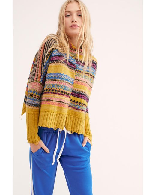 Free People - Multicolor All The Pattern Pullover Sweater - Lyst