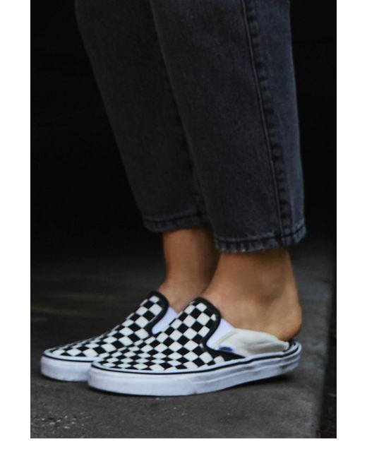 Free People - White Classic Checkered Slip-on By Vans - Lyst