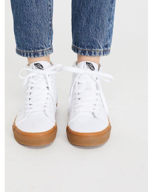 Free People | White Sk8-hi Reissue Gum Hi Top Trainer | Lyst