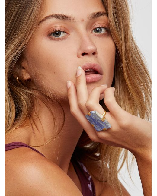 Free People | Multicolor Large Raw Stone Ring | Lyst