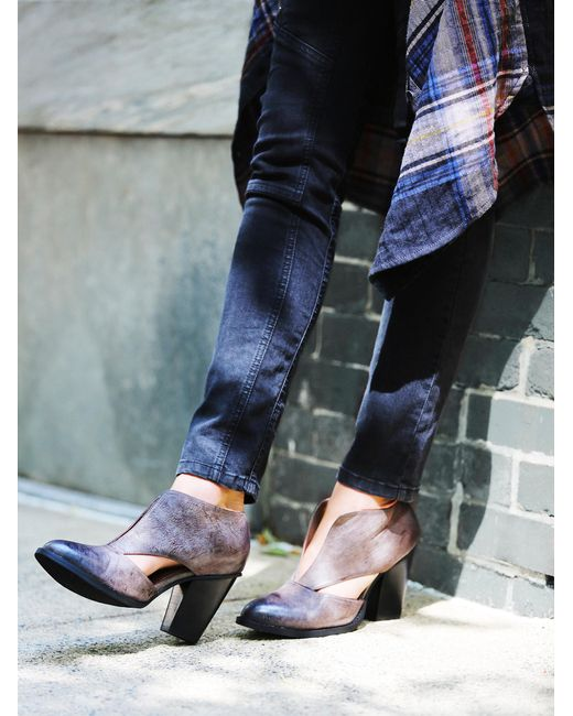 Free People | Blue Deep V Ankle Boot | Lyst