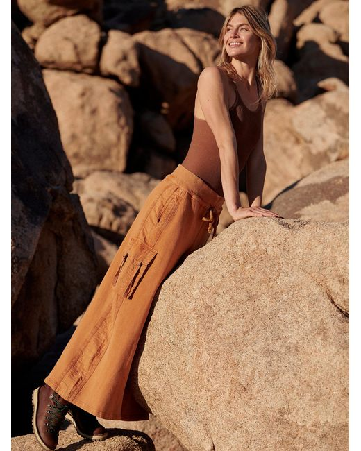 Free People Brown Playoff Wide-legs