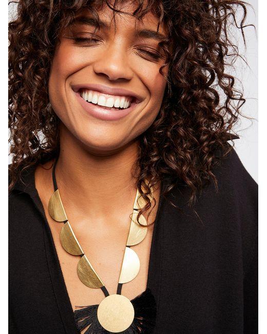 Free People | Black Accessories Designer Jewelry Rolling Rocks Tassel Pendant | Lyst