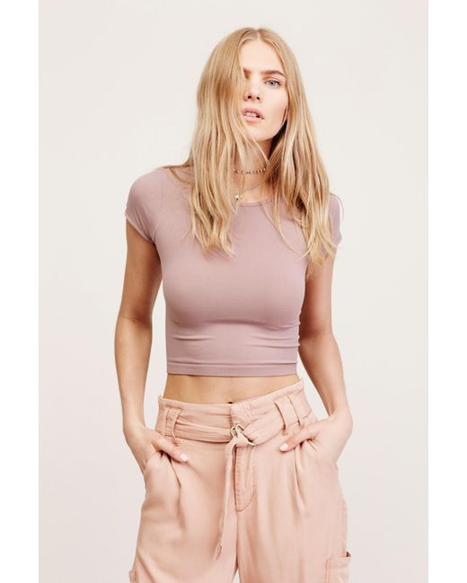 Free People - Pink Cap Sleeve Seamless Cami By Intimately - Lyst ... 4b9d35f3c