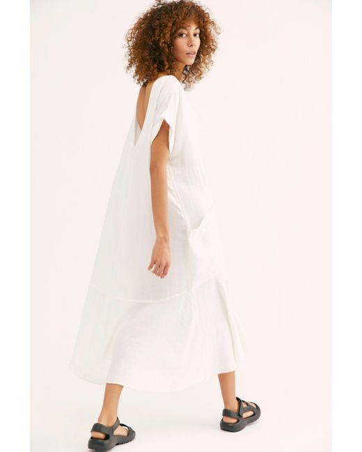 Free People White Crisp And Cool Midi Dress By Endless Summer