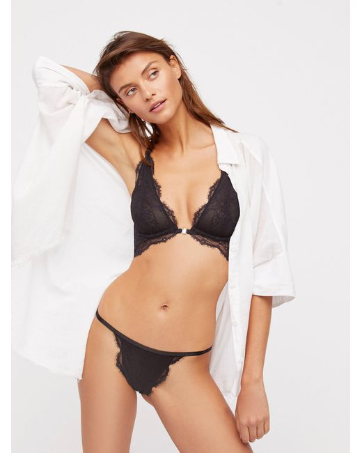 1f7f33c4a56 Free People - Black You're So Great Thong You're So Great Underwire ...