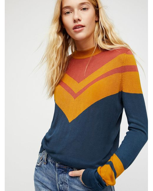 Free People | Multicolor Show Off Your Stripes Pullover | Lyst