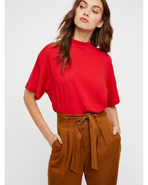 Free People - Red Need You Tee - Lyst