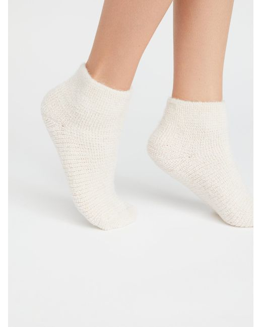 Free People - White Travel Anklet Socks - Lyst