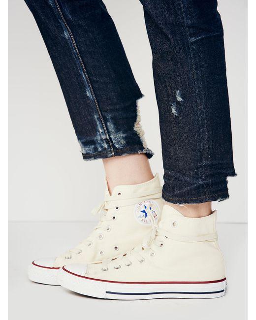 Free People - White Charlie Hi Top Converse Sneaker - Lyst