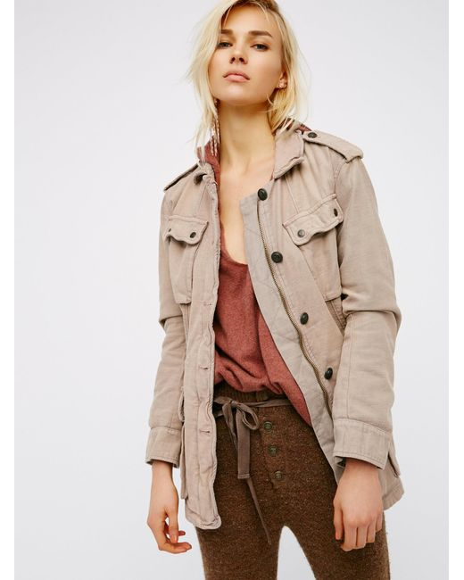 Free People   Natural Not Your Brother's Surplus Jacket   Lyst