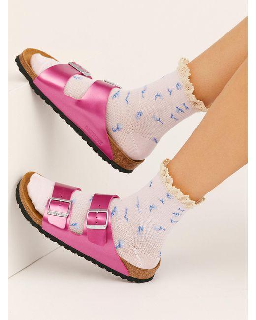 Free People Multicolor Ditsy Darling Waffle Knit Socks