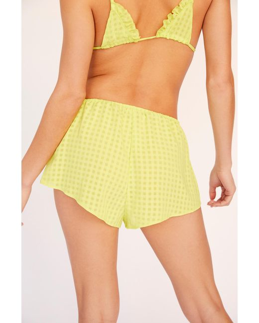 Free People - Yellow Piper Shortie By Intimately - Lyst