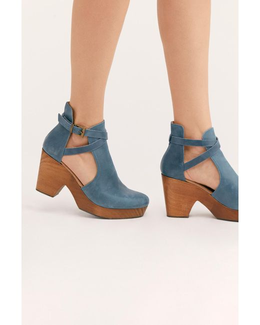 Free People Blue Cedar Clog By Fp Collection