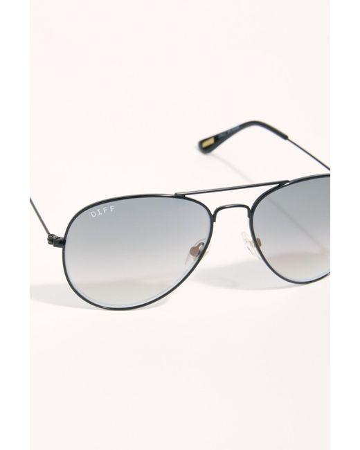 59f1a4da2efc8 ... Free People - Black Cruz Aviator Sunglasses - Lyst ...