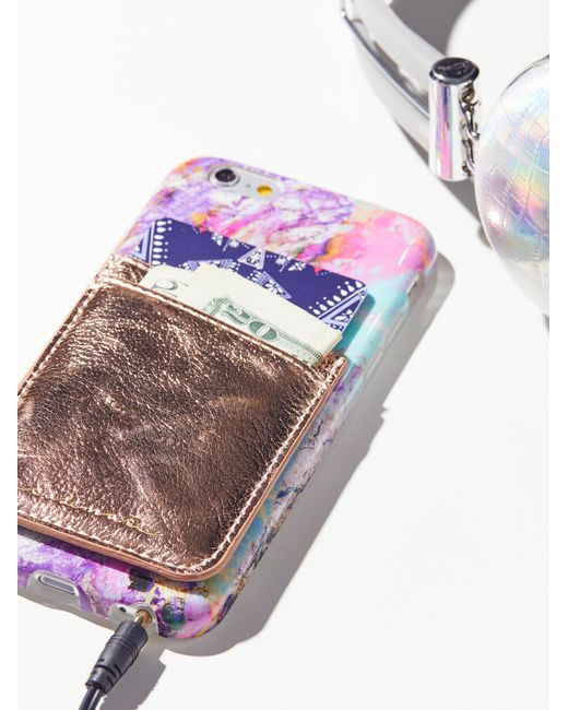 Free People   Multicolor Leather Iphone Pocket   Lyst
