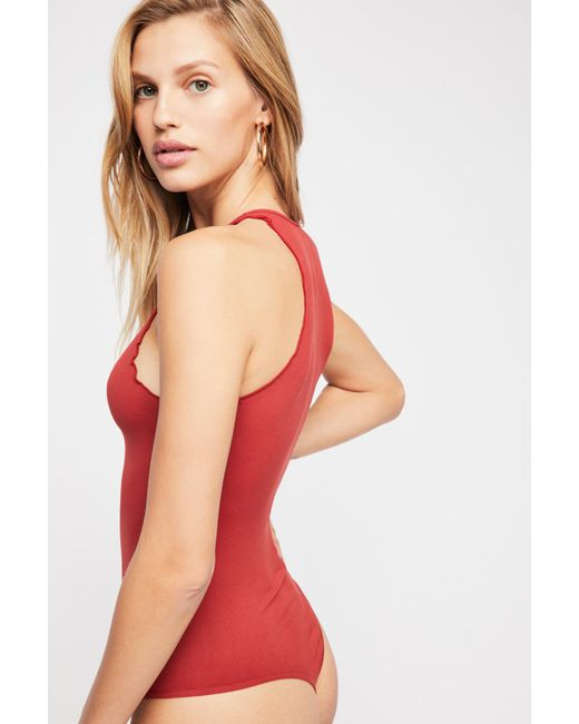 Free People - Red Feels Right Bodysuit - Lyst