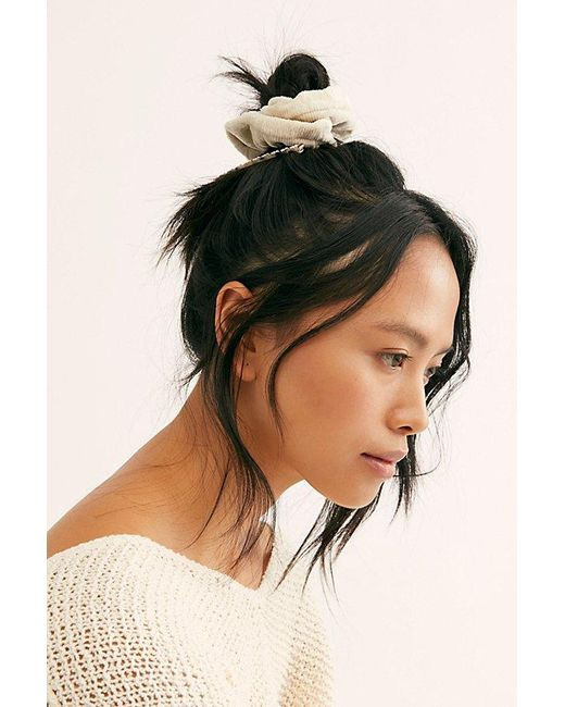 Free People White Softest Cord Scrunchie