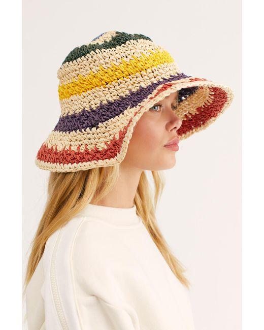 Free People - Green She's Like A Rainbow Bucket Hat - Lyst
