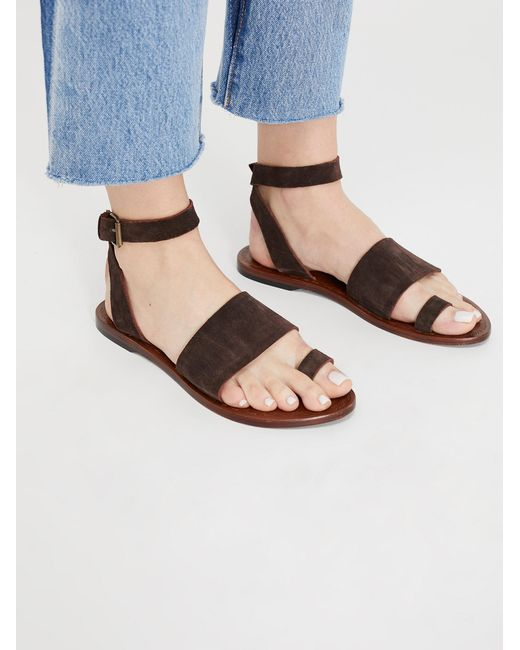 Free People - Brown Torrence Flat Sandal - Lyst