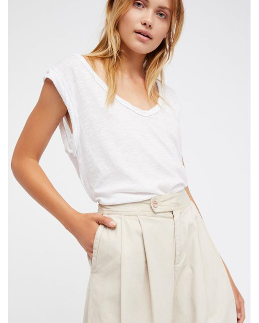 Free People | White We The Free Cleo Tee | Lyst
