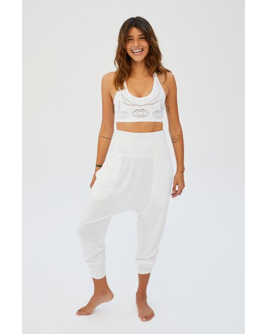 professional sale no sale tax detailed pictures Free People Synthetic Echo Harem Pant By Fp Movement in White - Lyst