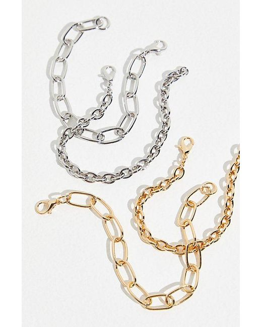 Free People Metallic Everyday Chain Recycled Bracelet