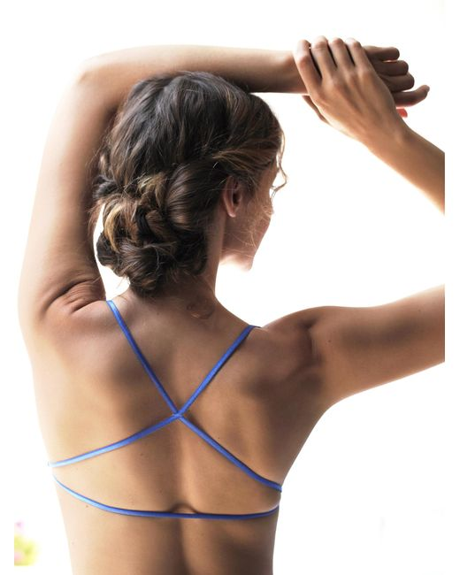 Free People | Blue Essential Lace Racerback | Lyst