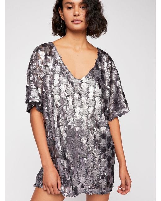 Lyst Sequin jurk Mensen shirt Mini Gratis T lF1uK3TJc