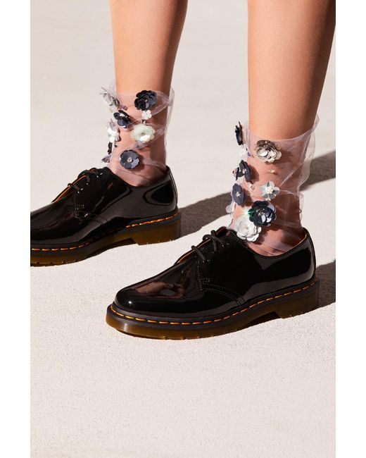 Free People - Gray Floral Tulle Anklet By Lirikas By Lirika - Lyst