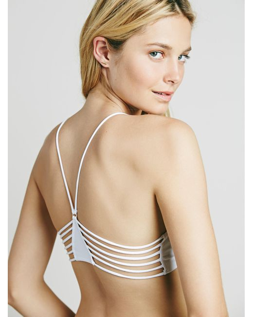 Free People - White Strappy Side Bra - Lyst