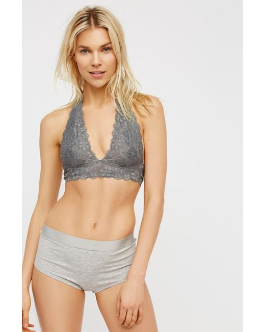 93ff1cc75b61e ... Free People - Multicolor Galloon Lace Halter Bra By Intimately - Lyst  ...
