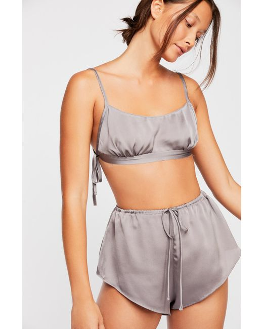 ... Free People - Gray Home With You Bralette - Lyst ... bc45f3c6d