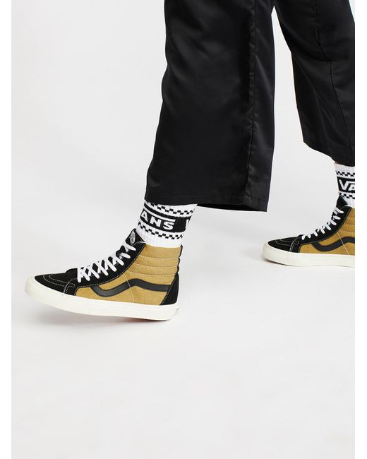 Free People | Black Sk8-hi Reissue Vintage High Top Trainer | Lyst