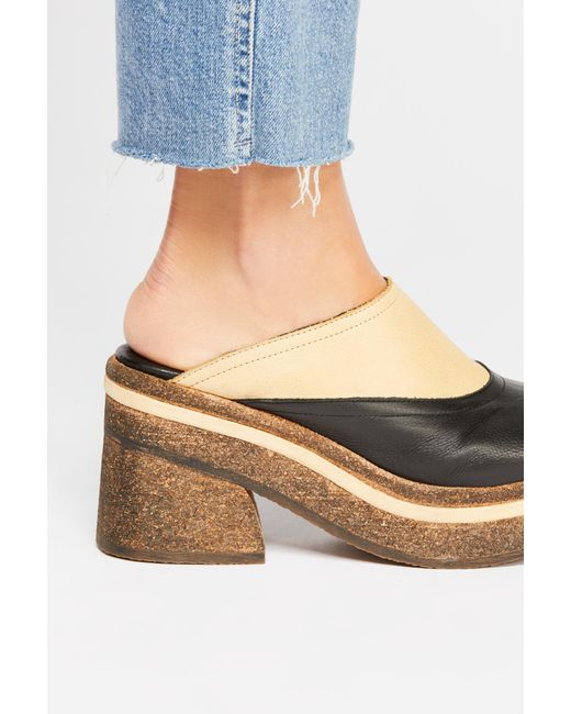 Free People - Brown Delta Platform Mule By Fp Collection - Lyst