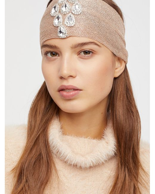 Free People | Brown Raindrops Sheer Turban | Lyst