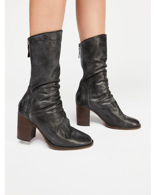Free People - Black Elle Block Heel Boot - Lyst
