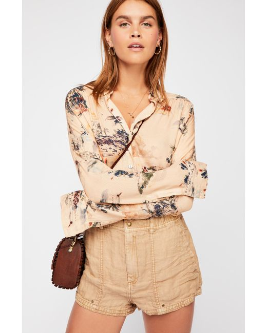 Free People - Natural Beacon Utility Short - Lyst