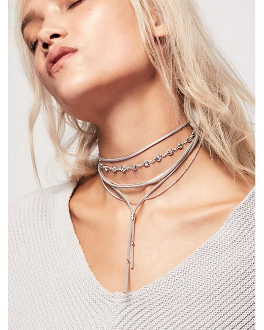 Free People | Metallic Wanted & Wild Leather Bolo | Lyst