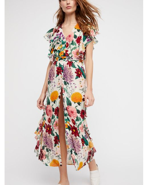 Free People | Multicolor Dana Midi Dress | Lyst