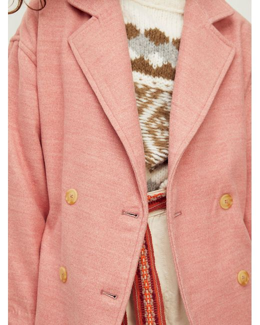 Free People Pink Hannah Super Soft Blazer