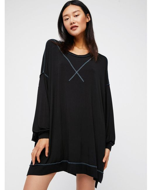 Free People | Black We The Free So Smooth Tee | Lyst